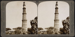 Kutb Minar, from N.E. - Moslem Tower of Victory near Delhi, India; 240 ft. high, base 47 ft. diam.